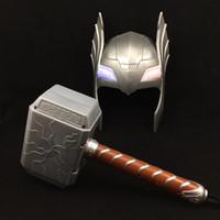 silikon-kostüme großhandel-Die Allianz von, 2 Kindern, Thor, Toy Thor, Voice Emitting, Thor Maske, Hammer Set Movie Theme Requisiten Partyspielzeug Versorgung