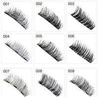 usar imanes al por mayor-Tres pestañas magnéticas de ojo Las pestañas reutilizables de visón de visón 3D sin pegamento utilizan el envío de DHL