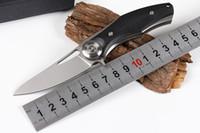 ingrosso coltelli svizzeri di trasporto libero-Coltello pieghevole D2 di piccole dimensioni 58-60HRC coltello da caccia tascabile giungla con lega di titanio + impugnatura G10 Attrezzi di salvataggio attrezzi esterni