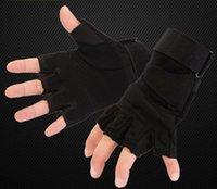 xinda climbing оптовых-Xinda высокое качество открытый восхождение скалолазание тактические нескользящие перчатки кожаные специальные полупальцевом перчатки Epacket бесплатно сообщение