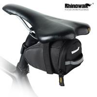 fahrradrohre großhandel-Rhinowalk Fahrradsatteltasche Ultraleicht MTB Rennrad Werkzeuge Schlauchaufbewahrungstasche Radfahren Rücksitz Schwanz Zubehör