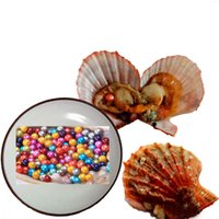 Wholesale great loves - 2018 DIY 25 colors round akoya single pearls oysters, AAAA 6-7mm, individually wrapped, great party gift red shell mussel