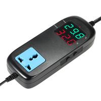 termostat dijital termometre toptan satış-LED Dijital inkübatör Sıcaklık Kontrol Elektronik Termostat Termokupl Soket Akvaryum Termometre termostato Kontrolörleri ile