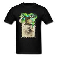 camisa preta do desenhista dos homens venda por atacado-Boxer 2018 dos homens frescos de verão preto t-shirt de algodão tecido de manga curta camiseta personagem clássico designer tops