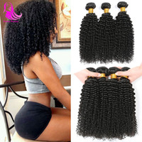 original menschliche haare großhandel-Afro Brazilian Kinky Curly Cheveux Humain 4 Bundle-Angebote Tissage Bresiliens Human Hairs Bundles DHgate Tight Curly 4 Bundles Original