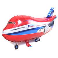 helicópteros grandes juguetes al por mayor-avión grande mylar foil globo helicóptero inflable niño helio avión globos fiesta decoración avión juguetes juguetes globos