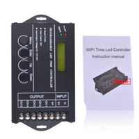 Wholesale Led Aquarium Strips - DC12 DC24V TC421 WiFi time programmable led controller dimmer rgb aquarium lighting timer input 5 channels for led strip