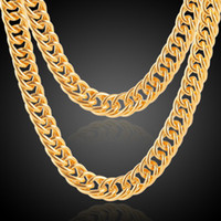 Wholesale Necklace Men 3mm Gold - 2018 Fashion Men Women 18k gold plated Necklace 3mm 10mm 24inch Exquisite Sideways Chain Party Gifts snake chain Accessories N007