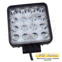12 led de luz 24v al por mayor-10 unids a prueba de agua 48 w Flood / Spot barra de luz de trabajo led impermeable CE RoHS camión campo a través luz de trabajo LED 12 v 24 v