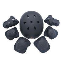 ingrosso ginocchiere a gomito per bicicletta-7 pezzi / set Pattinaggio Set di protezioni Gomitiere Bicicletta Skateboard Roller pattinaggio a rotelle per bambini