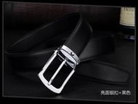 große metallbriefe großhandel-2019 neue Designer Luxus Gürtel Herren Premium Leder große Metallschnalle Business-Gürtel kostenlose Lieferung