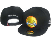 Wholesale D9 Reserve - Fashion styles D9 dnine Reserve Snapback Hats metal logo strap back Laughing and crying emoji hip hip mens women caps hat cap street caps