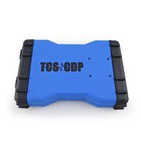 tcs scanner großhandel-Neueste Ankömmling TCS CDP Scanner OBD2 TCS CDP für Autos / LKW und OBD2 mit Bluetooth Neue Version 2015.3