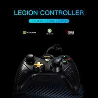 kontrolör oyunları pc toptan satış-Soundfox Tel XBOX ONE için Oyun Denetleyicisi Joystick ve PC Kablolu Denetleyici Gamepad ile Çift Titreşim Joypad Oyun Kontrolörleri