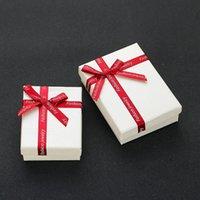 ingrosso scatola di prua dell'imballaggio-Confezione regalo doppia spugna confezione regalo, portagioie fiocco, portagioie gioielli in carta all'ingrosso e al dettaglio
