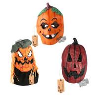 halloween kostümleri jack toptan satış-HD Kabak Maskesi Cadılar Bayramı Kostüm Partisi Sahne Jack O Fener Maske Lateks Canavar Maskeleri Yetişkinler için