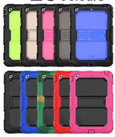 Wholesale ipad rugged heavy duty case online - Heavy Duty Case For iPad Mini Air Pro New iPad Rugged Tough Impact Hybrid Armor Cover Silicone PC Defender Shell