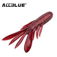 señuelos personalizados al por mayor-ALLBLUE 6 unids / lote cebos personalizados Super Craws suave señuelo de la pesca para la pesca cebo suave camarón cebo Bass Peche artes de pesca Y18100906