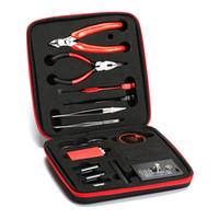 werkzeugtasche master spule großhandel-Spule Vater Vape Werkzeug V2 Kit Combo Set Volle Master DIY Kit V2 Ohm Tester Jig Pinzette Drahtzange Tragetasche