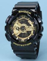 g reloj de pulsera de choque al por mayor-G 100 Estilo Choque Digital Hombres LED Cuarzo Reloj deportivo Correa de goma Ejército Militar Reloj de cuarzo Reloj impermeable Hombres Relogio masculino
