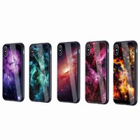 Wholesale iphone colorful tempered glasses for sale – best Colorful Star Tempered Glass Phone Case for iPhone X and Samsung Galaxy Note S8 S9 Plus