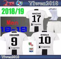 Wholesale Ripped Shorts For Men - Juventus home jerseys for the 18-19 season JUV CUADRADO KHEDIRA PJANIC MATUIDI BARZAGLI STURARO BENTANCUR HOWEDES DYBALA Soccer suit