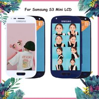 Wholesale galaxy s3 mini lcd touch screen resale online - Original Super AMOLED LCD for SAMSUNG Galaxy S3 Mini LCD Display With Frame i8190 GT i8190 i8195 i8200 Touch Screen Digitizer Replacement