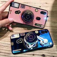 kameralı telefon kapağı toptan satış-YENI Kickstand Telefon Kılıfı Için iPhone 6 S 6 7 8 artı X XS Max Artı 10 Kılıf Silikon Sevimli Kamera Standı Tutucu Kapak