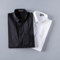 ingrosso migliori abiti da sposa uomini-Camicia da uomo fatta a mano manica lunga camicia da smoking smoking moda semplice camicia da uomo di buona qualità da uomo