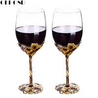 champanhe brindando vidros venda por atacado-GFHGSD Flautas De Vidro De Champanhe Perfeito para Presentes De Casamento, Conjunto de 2, luxo Cristal Toasting Flautas e Taças de Vinho QAZ1030