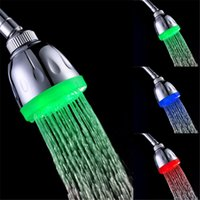 Wholesale automatic wall lights for sale - Group buy temperature control colors high quality light shower head with automatic color chaning sprinkler LD8010 A6
