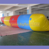 rebote inflável para crianças venda por atacado-10x3 m Inflável Jumping Blob 0.9mm PVC Inflável Aqua Blob Água Saltando Saco para Adulto e Crianças Frete Grátis