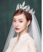 swarovski hair UK - 2018 New Bridal Tiara Swarovski Rhinestone Wedding Crown Wedding Tiara Bridal Headpieces Hair Accessories High Quality