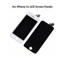 сотовые телефоны iphone 5s оптовых-для iPhone 5s дисплей разрешение экрана ассамблеи 1334*750 Емкостный экран ЖК-экран панели сотовый телефон сенсорные панели