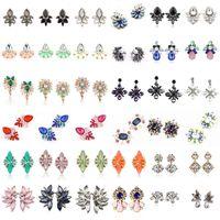 Wholesale black crystal clip earrings - 20 Styles Crystal Rhinestone Ear Clip Dangle Earrings Designer Jewelry Earrings Fashion Stud Earring Jewelry Earrings Mothers Day Gifts