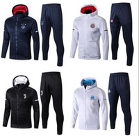 Wholesale hoodie windproof for sale - Group buy 18 Bayern marseille Ajax soccer hoodie jacket tracksuit de foot CABELLA PAYET THAUVIN ANGUISSA jerseys OM Hooded jacket Training suit