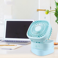 Wholesale mini mouse color - Mini Oscillating Folding Fan Cartoon Mouse USB Battery Recharge Color Optional Summer Air Cooler Electric Handheld Portable Fan ZB019