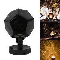 proyector de luz cosmos al por mayor-Estrella Celeste Astro proyección del cielo del cosmos enciende la lámpara de proyector Noche estrellada decoración romántica iluminación Gadget