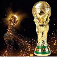 trophées de tasses achat en gros de-2018 Titan Cup Artware Modèle 21cm 27cm 36cm 44cm Trophée de la Coupe du Monde de Football Russie Ventilateurs Cadeau souvenir DHL Livré