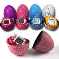Wholesale handheld electronics online - Dinosaur Egg Tamagotchi Virtual Digital Electronic Pet Game Machine Tamagochi Toy Game Handheld Mini Funny Virtual Pet Machine Toys
