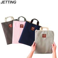 Wholesale file folder zipper - JEING Casual Canvas Handbag Women A4 File Folder Organizer Bag Document Stationery Phone Storage Pouch Holder Zipper Bag