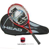 Wholesale high quality tennis grips - High Quality Carbon Fiber Tennis Racket Racquets Equipped with Bag Tennis Grip Size 4 1 4 racchetta da