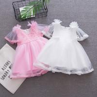 95031c89138d6 2018 été bébé filles robe vêtements enfants filles dentelle robe de  princesse infantile enfant en bas âge filles fête anniversaire formelle robe