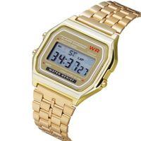 digitales handgelenk großhandel-2018 Freies Verschiffen F-91W laufende Uhren Mode ultradünne LED Armbanduhren F91W Männer Frauen beiläufige Sportuhr