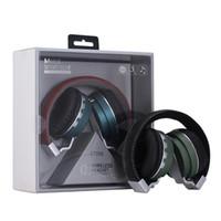 drahtloser speicher mp3 großhandel-BT008 BT-008 drahtloser Kopfhörer Kopfhörer Kopfhörer Universeller Bluetooth faltbarer HIFI Mic FM codierte Karte drahtloses verdrahtetes Bluetooth DHL