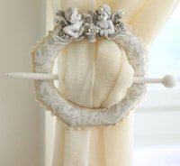 Wholesale Home White Piece Cute Angel Baby Window Curtain Tieback Buckle Europe Hook Decoration New Arrival Hot
