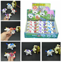 Wholesale funny stress reliever - 12pcs lot Funny Squishy Unicorn Grape Ball Beads Vent Mesh Ball Squeeze Decompression Anti Stress Reliever Children Kids Novelty Toy AAA580