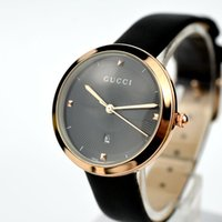 Wholesale pin diamond - New DW Fashion Dress Diamond Watches Colorful Luxury Brand CU Genuine Leather Quartz Watches Women Clock black