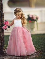 Wholesale First Communion American Girl - Designer Flower Girls Dresses For Weddings Toddler Pageant Dress Flowergirl Summer Dresses Kid First Communion Clothing Lace Party Clothes