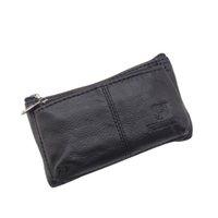 Wholesale Car Key Card Case - Car Key Wallet Small Genuine Leather Key Bags Fashion Mini Case for and Cards Holder Cow Leather Zipper Box